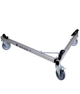 Chariot à roulettes pour trépieds a colonne - Accessoires scanners 3D - lepont.fr
