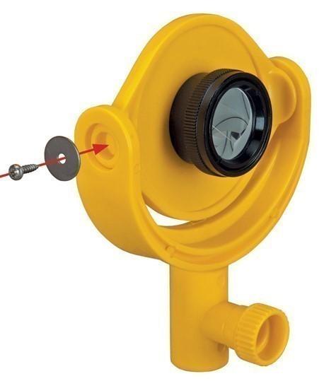 Miniprisme de 25mm sur support inclinable, mini-prisme avec adaptateur, auscultation, www.lepont.fr