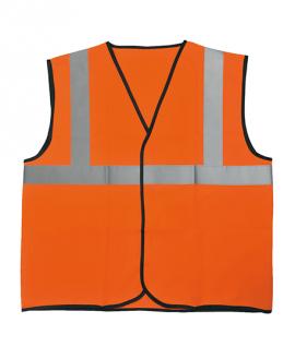 Gilet de signalisation standard orange haute visibilité